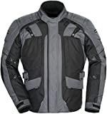 Tourmaster Transition Series 4 Men's Textile Motorcycle Touring Jacket (Gun Metal/Black, Large)
