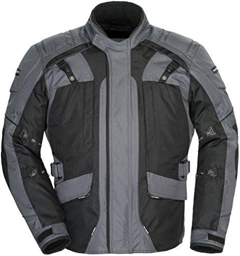 Tourmaster Transition Series 4 Men's Textile Motorcycle Touring Jacket (Gun Metal/Black, Large)