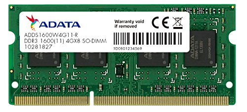 ADATA Premier 4GB 1600Mhz DDR3L RAM Memory Module for Notebooks and Laptops...