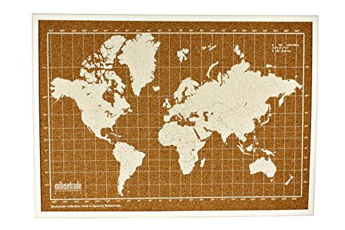 /en carte du Canada avec /épingles encadr/ée en bois noir avec clous/ Tableau en li/ège/ environ 96,5/x 66/cm /96,5/x 66/cm