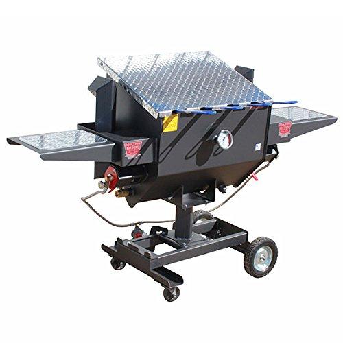 R&V WORKS FF4 Carbon Steel Material 12 Gallon 4 Basket Un-Divided Fryer
