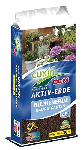 CUXIN DCM AKTIV-ERDE Blumenerde für Haus & Garten 45 l - incl. 100 Tage organischen Dünger!