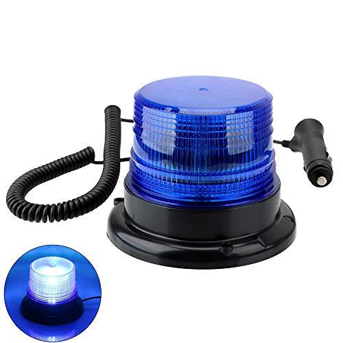 NOPNOG Luz de emergencia para coche, lámpara externa con fijación magnética para encendedor de cigarrillos, CC 12 V-80 V (azul)
