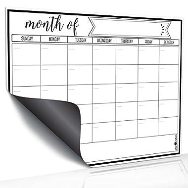 Magnetic Dry Erase Refrigerator Calendar by planOvation (monthly - black)