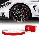 Quattroerre -Tiras adhesivas reflectantes para llantas de coches, rojo, 5mm x 6metros, referencia 10352