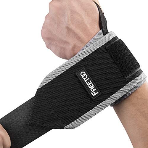 Correa de muñeca ajustable transpirable que proporciona muñequera para fitness, prensa de banco, levantamiento de pesas, talla única para mano izquierda o derecha.