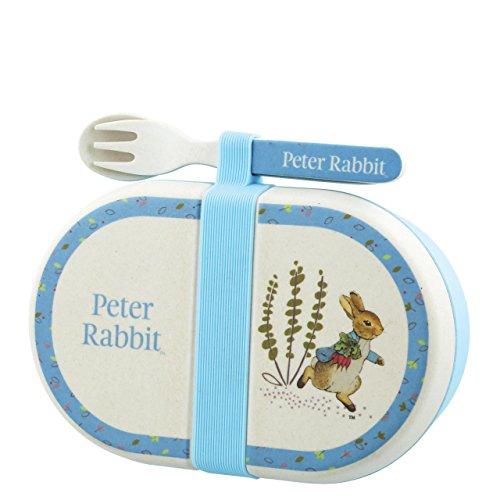 Beatrix Potter Peter Rabbit en Bambou Biologique Boîte à goûter avec Ensemble de Couverts