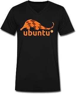 XW Custom Design Men's Ubuntu 12 04 Precise Pangolin T-Shirts Black