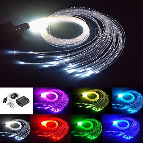 Flash Point Kit de luz de fibra óptica, Motor de luz: aluminio. Cable de fibra óptica: plástico., Blanco, 300pcs*0.03in/0.75mm*9.8ft/3m