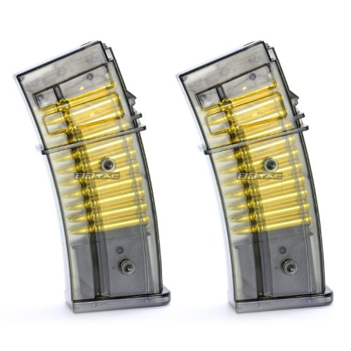 BBTac Airsoft M85 Magazine for Double Eagle M85 Airsoft Gun Magazine, Two Pack Warranty