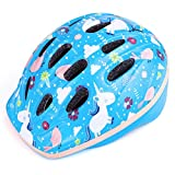 OutdoorMaster Toddler Kids Bike Helmet - CPSC Certified Multi-Sport 2 Sizes Adjustable Safety Helmet for Children (Age 3-11), 14 Vents for Kids Skating Cycling Scooter - Unicorn Fairyland,S