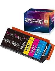 Yingcolor Compatibele inktpatronen voor Epson 202XL 202 XL voor Epson Expression Premium Xp-6000 Xp-6005 Xp-6001 Xp-6100 Printer (6 Pack)