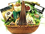 The Finer Things In Life, Large Gourmet Gift Basket Loaded with Cheeses, Crackers, Nuts, Caviar,...