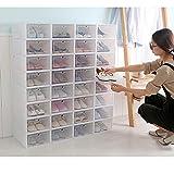 24 cajas de almacenamiento apilables para zapatos de plástico para el hogar