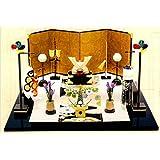 『金色兜お飾りセット 屏風付き』端午の節句飾り・兜飾り