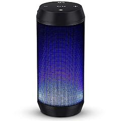 Głośnik Bluetooth Music Box Przenośna skrzynka BLUETOOTH LED z funkcją głośnomówiącą do telefonu komórkowego i radia PC FM Micro-SD i usb wireless firmy ELEHOT