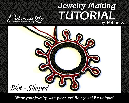 DIY Jewelry making Tutorial Blot Shaped Pendant, Practical Step by step Guide on How to make Handmade Soutache Jewellery