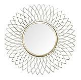 JHY DESIGN Espejo colgante de pared (metal, 36 cm de diámetro), diseño de...