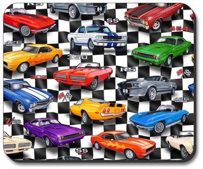 Muscle Cars - Art Plates Brand Mouse Pad - Image by Dan Morris