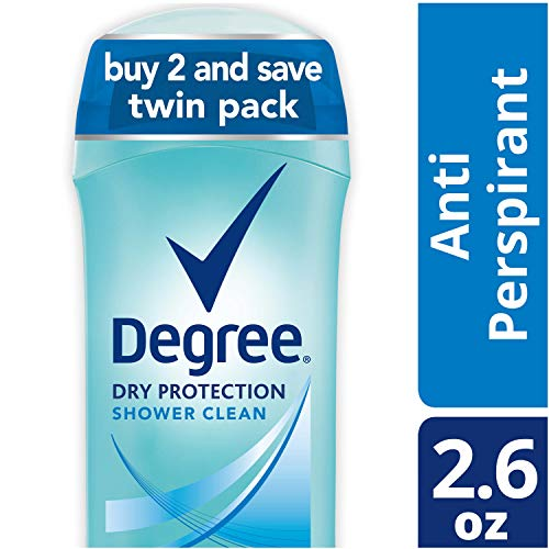 Degree Women Dry Protection Antiperspirant Deodorant, Shower Clean, 2.6 oz, Twin Pack