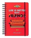 Grupo Erik - Agenda anual 2021 semana vista Friends, A5...