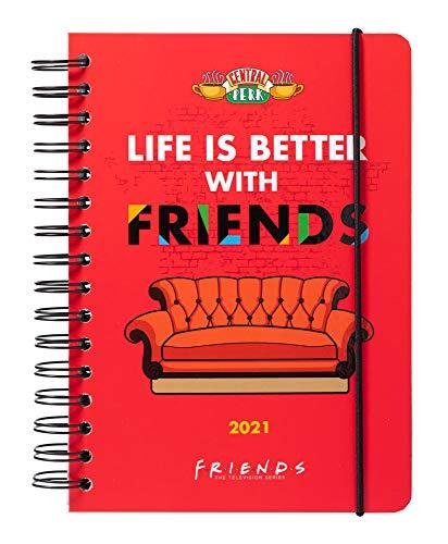 Grupo Erik Terminkalender Friends - Kalender für 2021 A5 - Planer mit Wochenansicht