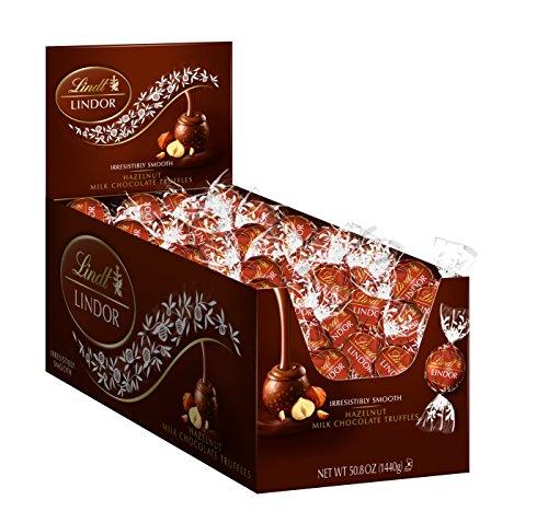 Lindt LINDOR Hazelnut Milk Chocolate Truffles, Kosher, 120 Count Box, 50.8 Ounce