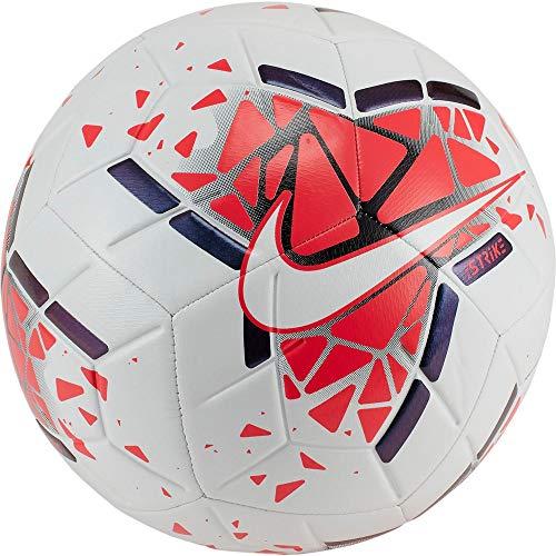 Nike Strike Fußball 19 Freizeitbälle White/Laser Crimson/Metallic B 5