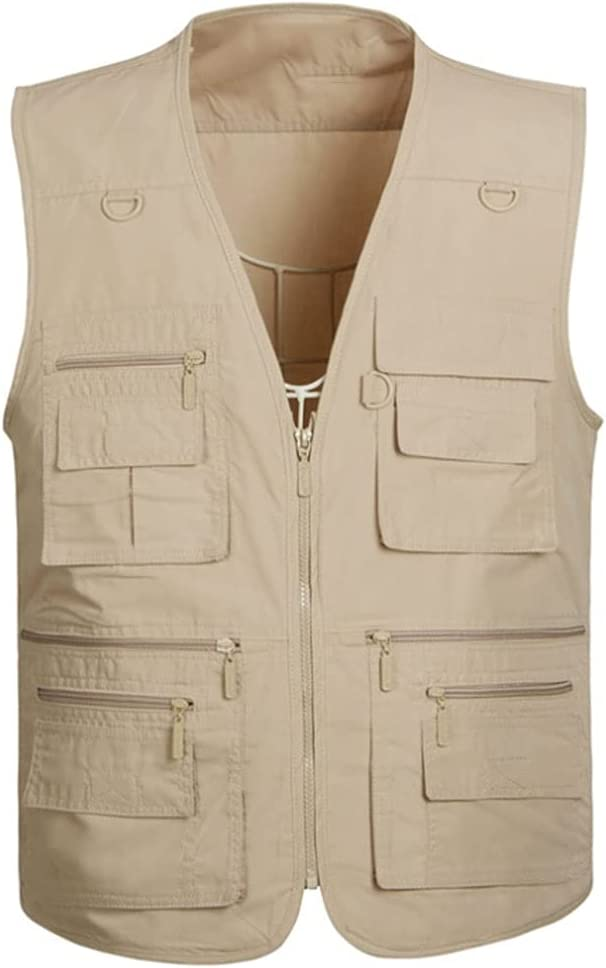 Fishing Vests for Men Vest S Ranking integrated 1st place Max 59% OFF Pocket Multi Outerwear
