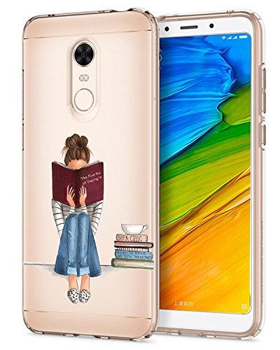 Caler Funda Xiaomi Redmi 5 Plus Case, Suave TPU Gel Silicona Ultra-Delgado Ligera Anti-rasguños Carcasa Imagen Interesante Protección (Tiempo de Lectura)