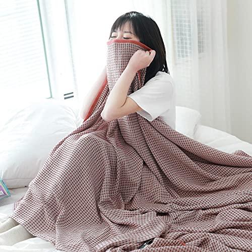 Tvättbart duntäcke, tvätt sommar cool filt handduk filt handduk är dubbel vår semester filt röd_200 x 230