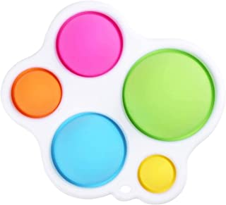 A Soft Silicone Fidget Toy Hand Toys Gifts for Ages 12 Months and Up 2PCS Simple Dimple Fidget Toy Early Education Intensive Learning Toys for Baby Kids Adults Release Stress and Anxiety
