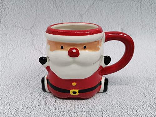 fsafa Encantador Santa Claus Festival Tema Cerámica Tazas Copas De Navidad Drinkware Cumpleaños para Amigos,Novedad Personalizada Chocolate Té Leche Tazas,Mejor Regalo