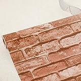 LZYMLG Papel pintado de efecto de pared de ladrillo autoadhesivo a prueba de agua 3D dormitorio de los niños dormitorio sala de estar pared pegatina DIY C
