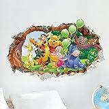 Kibi Disney 3D - Adesivo da Parete Winnie the Pooh e Amici Adesivi Murali Winnie the Pooh Stickers Murali Winnie the Pooh Stickers Murali Camerette Bimbi disney Adesivi Muro Winnie Pooh