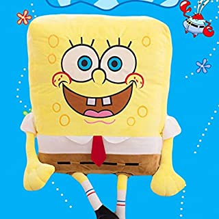 spongebob yellow fuzzy stuffed plush pillow cushion square pillows new