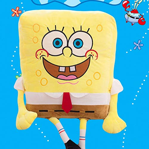 Hot Sponge Bob Kids Soft Stuffed Animals Plush Toys Baby Pillow Animal Cartoon Doll Cotton Cushion for Children- Stuffed Animals for Girls - Giant Teddy Bear (Sponge Bob, 55cm)