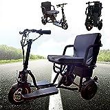 Scooter per mobilità elettrica pieghevole a 3 ruote, triciclo elettrico portatile, dispositivo per sedia rotelle mobile, viaggi 48V Motorino per batterie al litio,per adulti domestici/anziani/disabili
