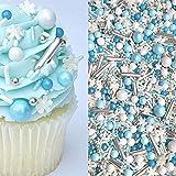 Sprinkles   Frozen in Sugar Sprinkle Mix   Blue Sprinkles   Confetti Sprinkles   Metallic Sprinkles   Snowflake Sprinkles   Cake Sprinkles (4 ounce bag)
