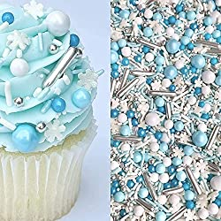 silver blue and white sprinkles for sugar cookies for hanukkah