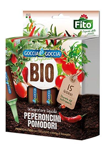 Fito Goccia Bio, Integratore Liquido, peperoncini e pomodori, 5 flaconi da 32 ml