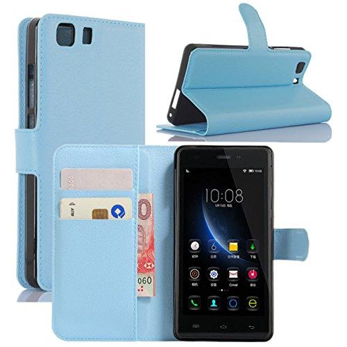 HualuBro Doogee X5 Hülle, Doogee X5 Pro Hülle, Premium PU Leder Leather Wallet HandyHülle Tasche Schutzhülle Flip Hülle Cover für Doogee X5 / Doogee X5 Pro Smartphone (Blau)