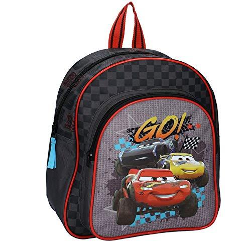 Disney Cars Sac à Dos pour Enfants - Lightning McQueen, Cruz Ramirez et Jackson Storm - Noir