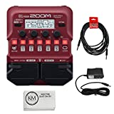 Zoom B1 Four Guitar MultiEffects Processor + (1) 20ft Instrument Cable + (1) 9V Power Supply + K&M Cloth