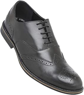 Venturini Mens Leather Lace Up Oxfords