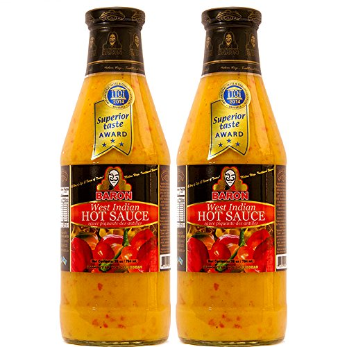 Baron West Indian Hot Sauce 28 Ounce (Pack of 2)