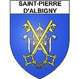 Saint-Pierre-d'Albigny 73 ville sticker blason écusson autocollant adhésif - Taille : 8 cm