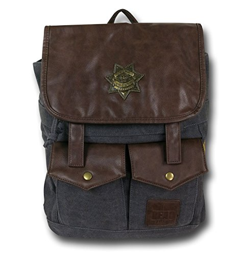Licensed AMC The Walking Dead Rick Grimes Sheriff Black Backpack by Image Comics