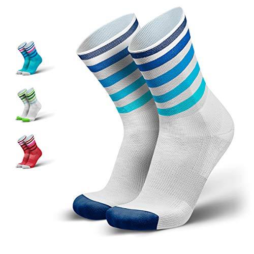 INCYLENCE Levels gepolsterte Laufsocken lang, Running Socks, atmungsaktive Sportsocken mit Anti-Blasen Schutz, Kompressionsstrümpfe, weiß, 43-46