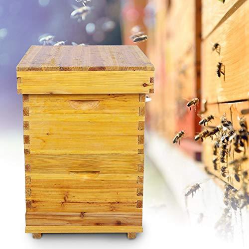 Focket Honey Keeper Beehive, 10 Frame Cedar Wood Waterproof Honey Super...